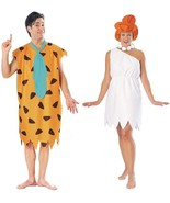 Couples The Flintstones Fred and Wilma Adult Costume Stone Age Halloween - $44.82