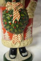 Vaillancourt Folk Art Red Forest Santa with Kissing Ball signed by Judi! image 6