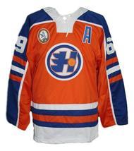 Custom Name # Halifax Highlanders Retro Hockey Jersey Orange Glatt #69 Any Size image 4