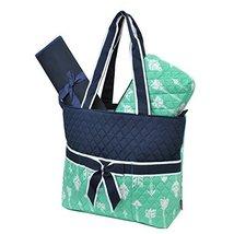 Mint Arrow Print NGIL Quilted 3pc Diaper Bag - $21.09