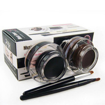 Best 2 in 1 Brown and Black Gel Eyeliner Make Up Water-proof And Smudge - $7.34