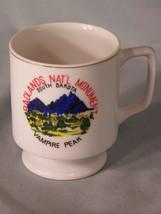 "Badlands Nat'l Monument Vampire Peak souvenir coffee cup approx 3.25"" tall - $5.95"
