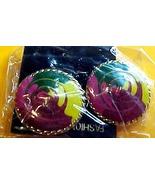Large Button Style Ear Rings - Pierced Ears - $3.00