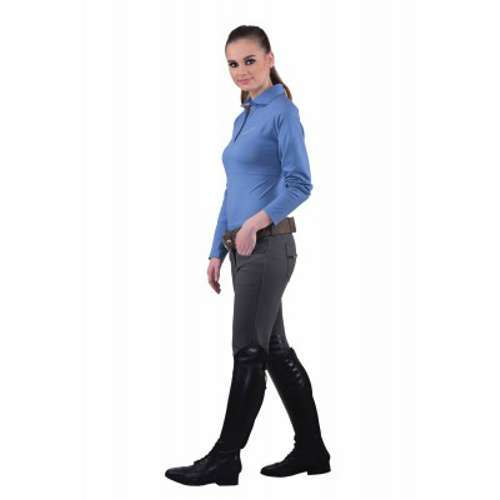 Equine courture ladies sophie knee patch breeches charcoal 3