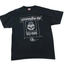 Harley Davidson T-Shirt Sturgis 70th Nero Manica Corta Due Lati Biker Ca... - $22.99
