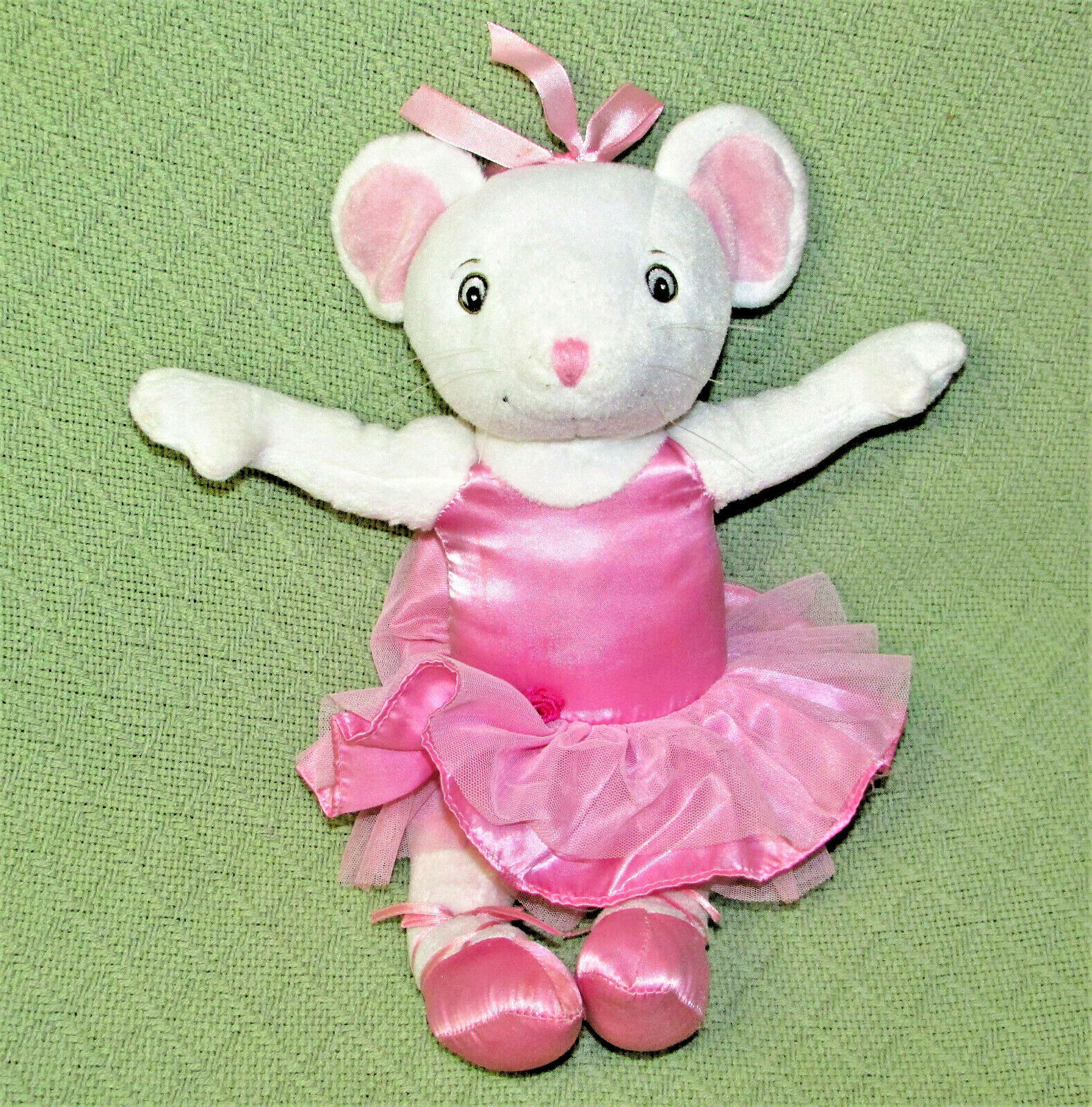 "Primary image for 14"" Sababa Toys ANGELINA BALLERINA Poseable Mouse Doll Plush Stuffed Animal Toy"