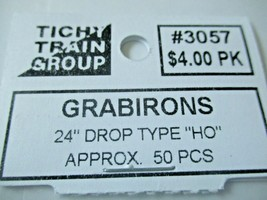 """Tichy #293-3057 Grabirons 24"""" Drop Type Approx 50 Pieces HO Scale image 2"""