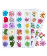 Flowers Leaf Nail Decoration Natural Floral Sticker 3D Dry Beauty Nail Art - $3.67