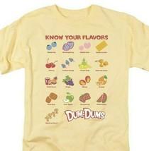 Dum-Dums T-shirt Know Your Flavor retro candy classic lollipop tee DUM113 Yellow image 1