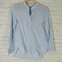 H&M Top Womens 4 Light Blue Shirt Tunic - $18.34