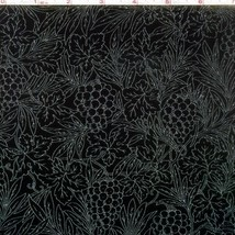 RJR Bare Essentials Grapes on Black 100% cotton fabric by the yard - $8.05
