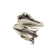Avon 925 Sterling Silver Tulip Flower Wrap Bypass Ring Size 8.5 - $19.79