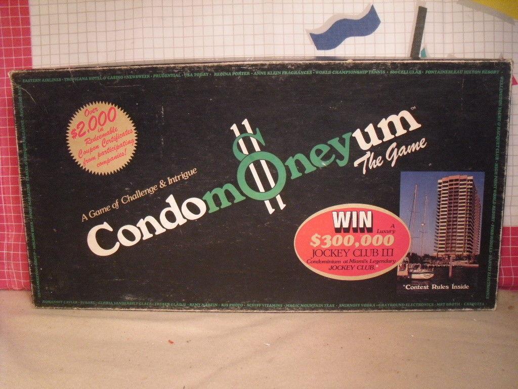 Condomoneyum The Board Game from ESM - 80s Lifestyle