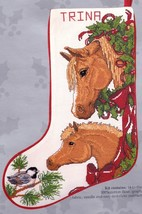 Candamar Horses and Bows Colt Foal Christmas Cross Stitch Stocking Kit 5... - $174.95