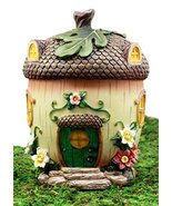 Ebros Gift Enchanted Fairy Garden Miniature Squirrel Acorn Cottage House... - £18.17 GBP