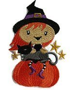 Custom And Unique Happy Halloween [ Winifred Witch And Cat]Embroidered I... - $14.84