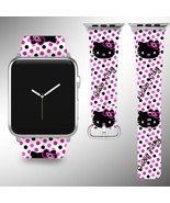 Hello Kitty Apple Watch Band 38 40 42 44 mm Fabric Leather Strap 02 - $24.97