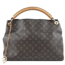 #33634 Louis Vuitton Artsy Hobo Mm Tote Brown Monogram Canvas Shoulder Bag - £1,027.68 GBP