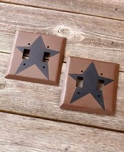 Double Light Switch Plates Primitive Country Star Hardware Home Decor Set of 2 - $16.82