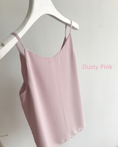 Summer Sleeveless Tank Top Lady Pink Chiffon Tops Wedding Bridesmaid Top Blouses image 8