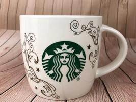 Starbucks Siren Mermaid Swirl White Ceramic Coffee Mug 14 Ounces New Gift - $11.30