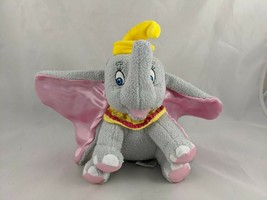 "Disney Dumbo Elephant Plush Sits 8"" Satin Ears Stuffed Animal - $15.38"