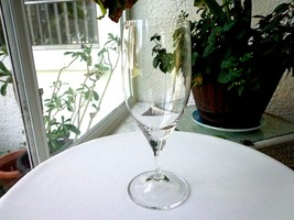"Nachtmann Clear Crystal Wine Goblet 8"" Tall - $18.80"