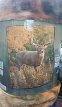 Deer in the Wild American Heritage Woodland Plush Raschel Throw blanket - $23.75