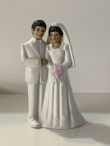 "Toma Porcelain 7045 Wedding Bride Groom Cake Topper Shower Decor 5 1/4"" ... - $14.99"