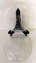 2 Piece Pasari Crystal Livia Clear Glass 1 Dinner Plate 1 Bowl Indonesia... - $27.71