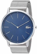Lacoste Men's Quartz Watch with Stainless Steel Strap, Silver, 20 (Model: - $208.67