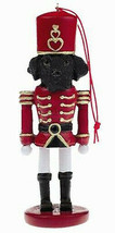 LABRADOR BLACK DOG CHRISTMAS ORNAMENT NUTCRACKER SOLDIER HOLIDAY 5 inch - $12.98