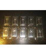 Lot of 10 x 1 oz Sunshine Minting .999 Fine Silver Bar Sealed Vinyl Half... - $493.02