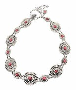 Western Women's Agate Stone Concho Chain Belt in 4 color (Red) - $29.69