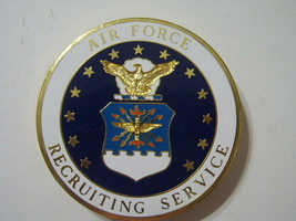 Usaf Badge - Air Force Recruiting Service Large Size Style #1: OH18-1 - $9.99