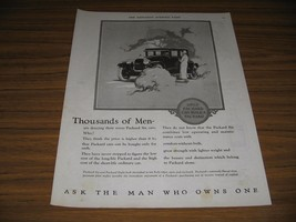 1924 Print Ad Packard Motor Cars Ask the Man Who Owns One - $19.69