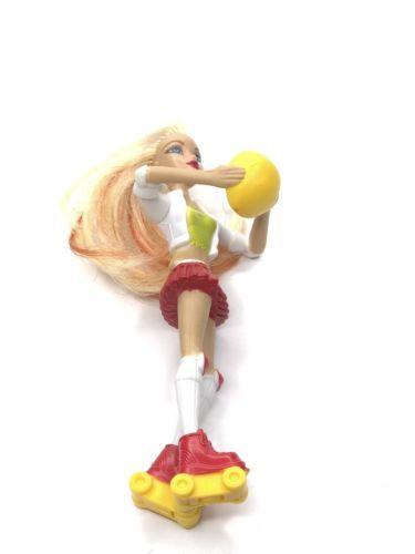 2007 McDonald's Toy Barbie Roller Blade Figurine Blonde Hair My Scene figure