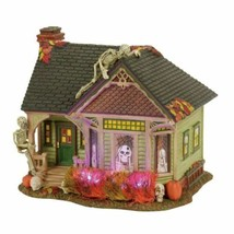 Department 56 Halloween Snow Village Series Skeleton House Light Up  New... - £458.82 GBP