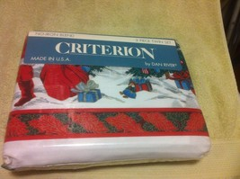 DAN RIVER--3 PC TWIN SHEET SET--VICTORIAN CHRISTMAS----FREE SHIP--NEW - $26.01