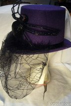 Bethany Lowe Halloween Purple Top Hat with Spider no. LO6459 image 2