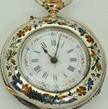 ONE OF A KIND Qing Dynasty Chinese silver&enamel pocket watch c.1890's.R... - $1,900.00