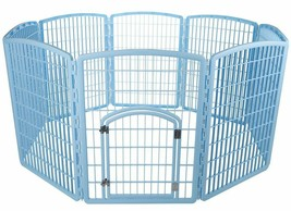 "NEW Plastic Puppy Dog Pet Play Pen Kennel Cage Gate Fence Blue 63""x63""x34"" - $158.39"