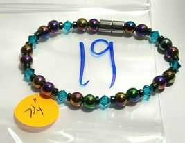 Beaded Bracelet Magnetic Hematite Clasp Single Strand   7 Inch   (MAG-019) image 4