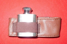 "Wrist Strap 9 "" Stainless Steel 1 oz Screw Top Drinking Flask - $9.83"
