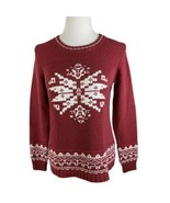 Knitted by Bass Women's Medium Weight Pullover Sweater Size M Red/White - €6,57 EUR
