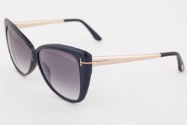 Tom Ford Reveka Black Gold / Gray Gradient Sunglasses TF512 01B - $185.22