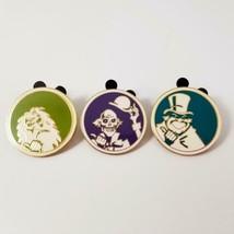3 Disney Haunted Mansion Hitchhiking Ghost Pins Set Lot Ezra Phineas Gus Circle - $19.99