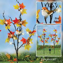 Solar Autumn Branch Decorative Garden Stakes, Lighted Fall Outdoor Décor - $13.29