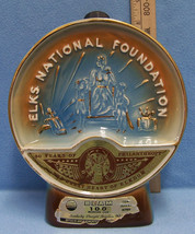 Vintage Jim Beam Bourbon Whiskey Decanter Elks Foundation 50 Year Anniversary - $12.86