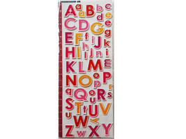Colorful Puffy Alphabet Stickers, Uppercase and Lowercase, Stickers